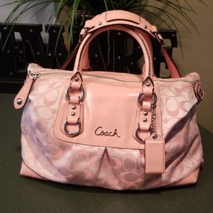 Coach F15443 Ashley Peony Pink Signature Bag